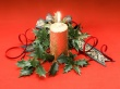 Candle on Red - christmas wallpaper