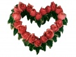 Ground Heart Roses - valentines wallpaper