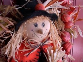 Scarecrow Wreath - halloween wallpaper