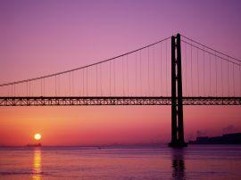 Bridge in sunset - usa wallpaper
