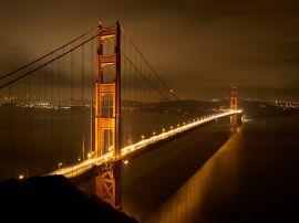 Bridge lit up - usa wallpaper