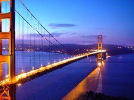 Golden Gate lights - usa wallpaper