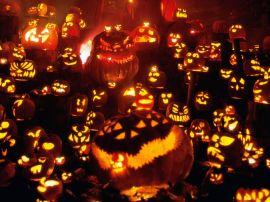 Pumpkin invasion - halloween wallpaper