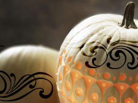 Tattoo on pumpkins - halloween wallpaper