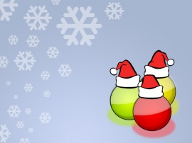 Christmas bubles Wallpaper