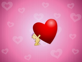 Big red heart for you - valentines wallpaper