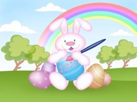 Easter bunny - easter wallpaper