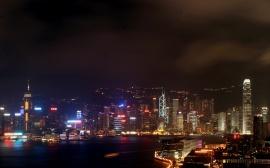 Hong Kong By Night - china wallpaper