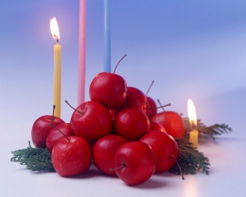 Red Fruits - christmas wallpaper