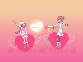 Falling in Love - valentines wallpaper