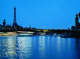 Paris in the Evening - france wallpaper