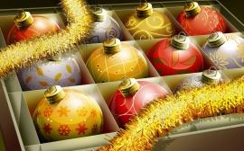 Christmas Balls Box - christmas wallpaper