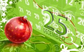 Red Christmas Ball - christmas wallpaper