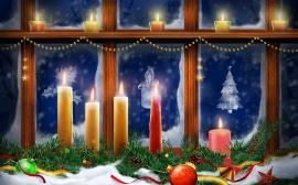 Window Candles - christmas wallpaper