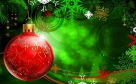 Christmas Red Ball - christmas wallpaper