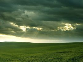 Clouds above field Обои