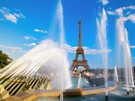 Eiffel tower and water - france wallpaper
