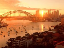 Sydney sundown Wallpaper