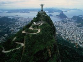 view from corcovado - brazil wallpaper