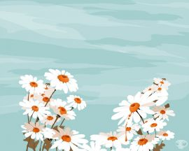 White flowers and sky Wallpaper
