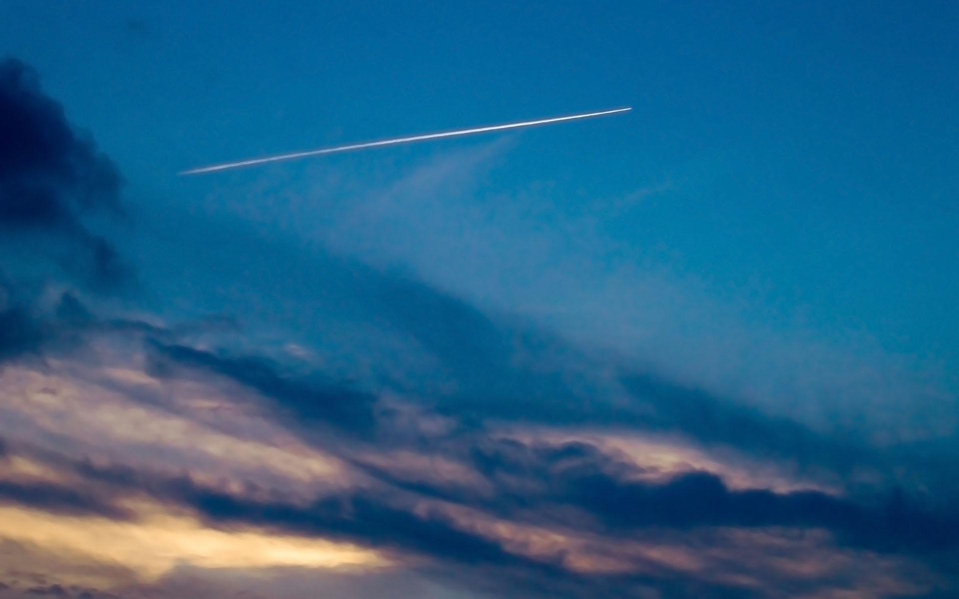девушка небо самолет: