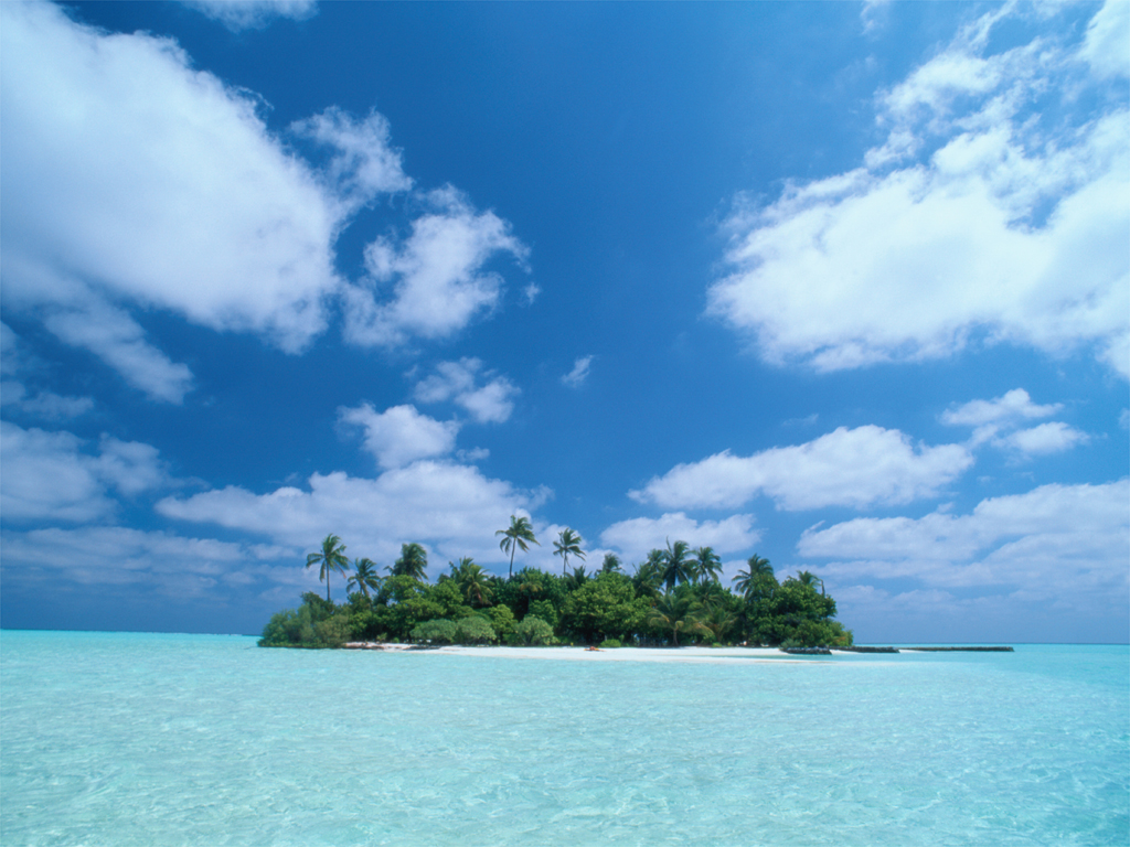 Alone island - scenery wallpaper