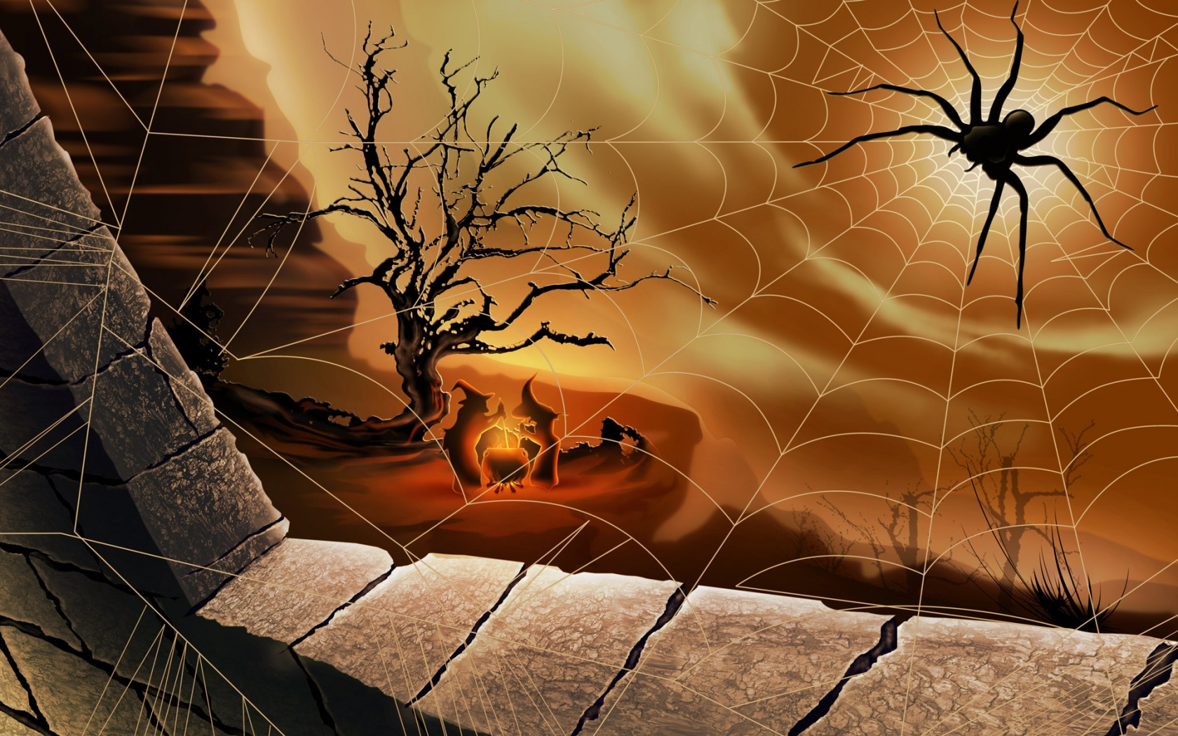 Free screensavers and wallpapers - Scary halloween screensavers animated ...