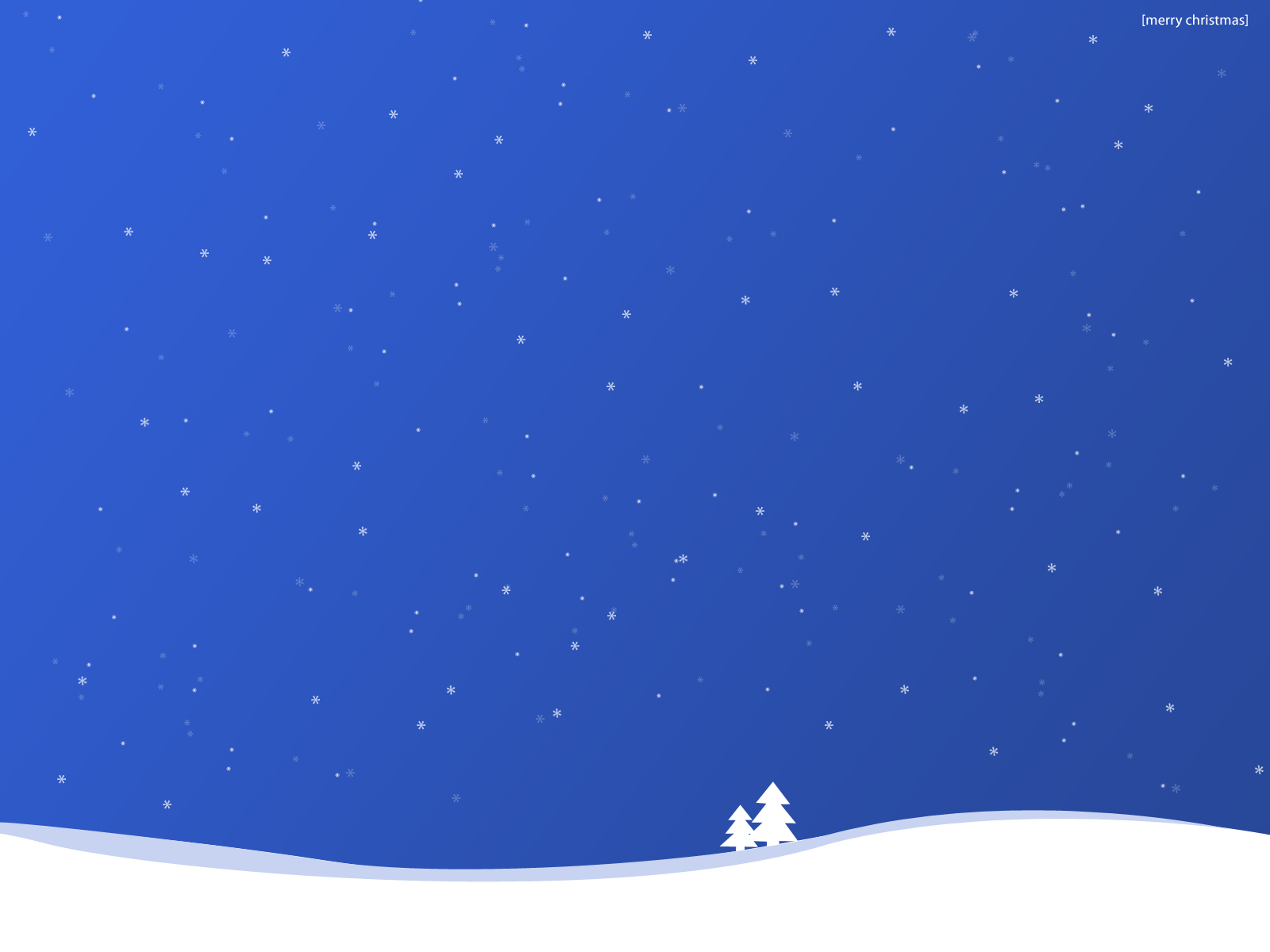 Download new screensavers Blue Christmas Wallpaper