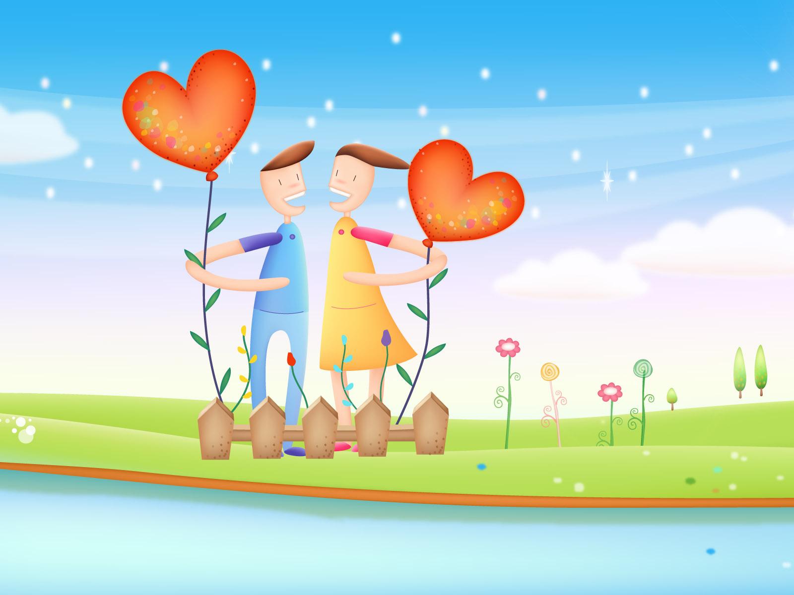 Открытка паре влюбленной, невеста