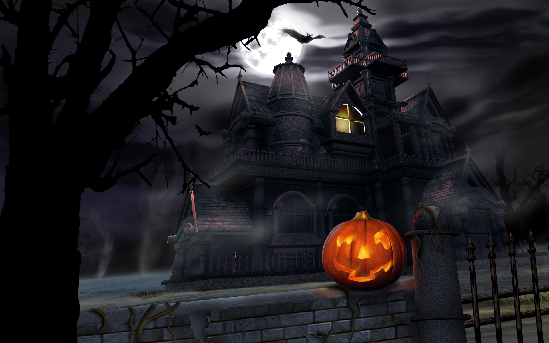 haunted house wallpaper with sound - photo #31