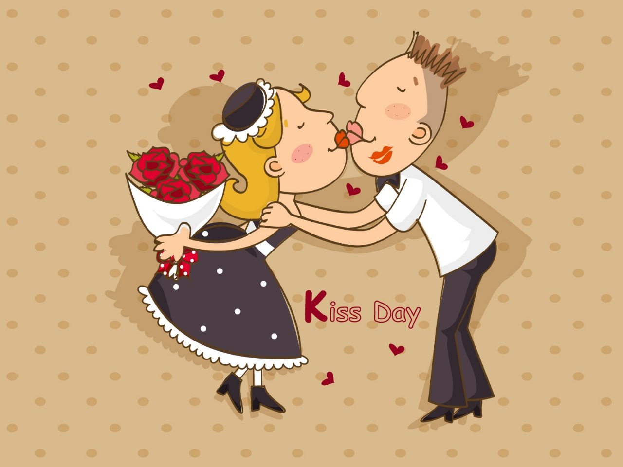 Поздравление картинки с днем поцелуев