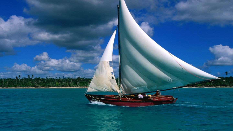 Sailing ship - summer wallpaper