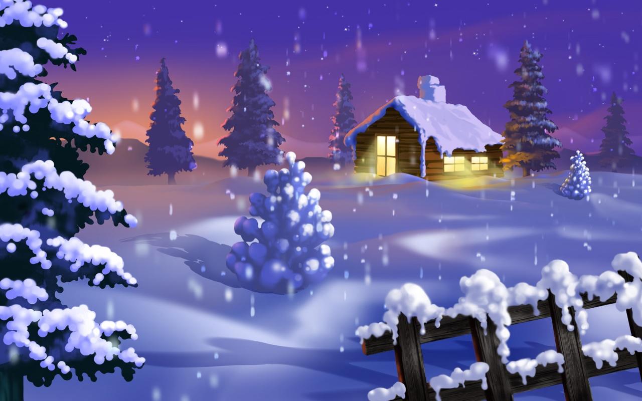 Silent Winter - christmas wallpaper