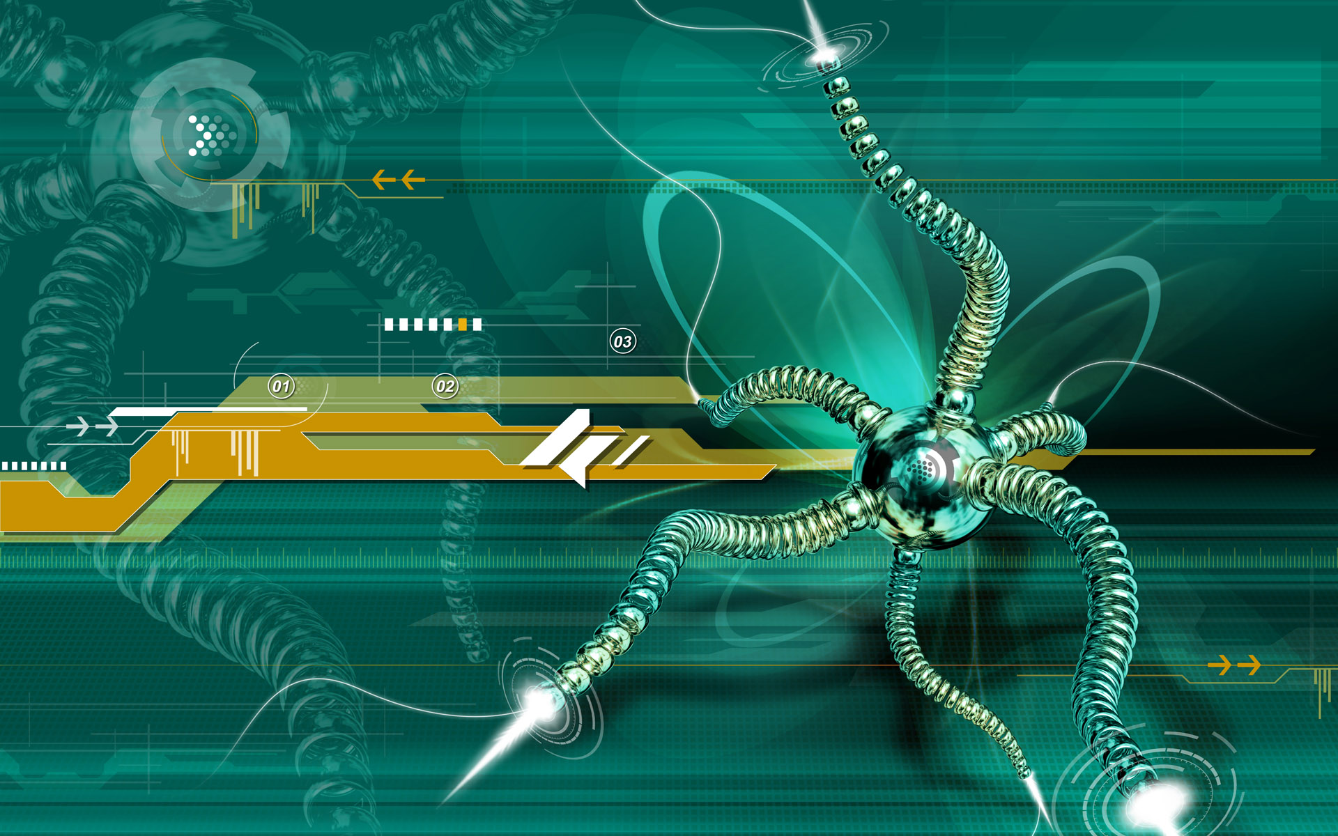 Web Spider 3D - abstract wallpaper